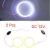 2pcs 70mm Outer Dia White LED Light COB Halo Angel...