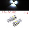 2pcs 6 SMD 5630 LED T10 White Projector Light Car ...