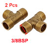 3/8BSP Male Thread Brass T Shape Tube Pipe Connect...