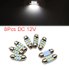 8pcs White LED Car Bulb 31mm Festoon 6 1210 SMD Do...