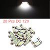 20pcs White LED Car Bulb 36mm Festoon 6 1210 SMD D...