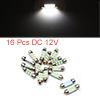 16pcs White LED Car Bulb 36mm Festoon 6 1210 SMD D...
