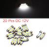 20pcs White LED Car Bulb 36mm Festoon 3 5050 SMD D...