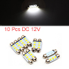 10pcs White LED Car Bulb 36mm Festoon 3 5050 SMD D...