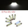 8pcs White LED Car Bulb 41mm Festoon 12 1210 SMD D...