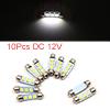 10pcs White LED Car Bulb 39mm Festoon 3 5050 SMD D...