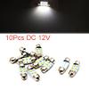 10pcs White LED Car Bulb 31mm Festoon 6 1210 SMD D...