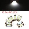 10pcs White LED Car Bulb 36mm Festoon 6 1210 SMD D...