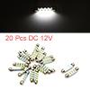 20pcs White LED Car Bulb 41mm Festoon 12 1210 SMD ...