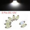8pcs 39mm 16 LED 1210 SMD Festoon Dome Light Car I...