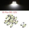 16pcs 36mm 6 LED 5050 SMD Festoon Dome Light Car I...
