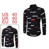 Men Color Block Allover Stripes Pattern Shirt Blac...