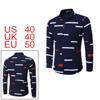 Men Color Block Allover Stripes Pattern Shirt Blue...