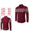 Men Button-up Vertical Stripes Prints Long-sleeves...