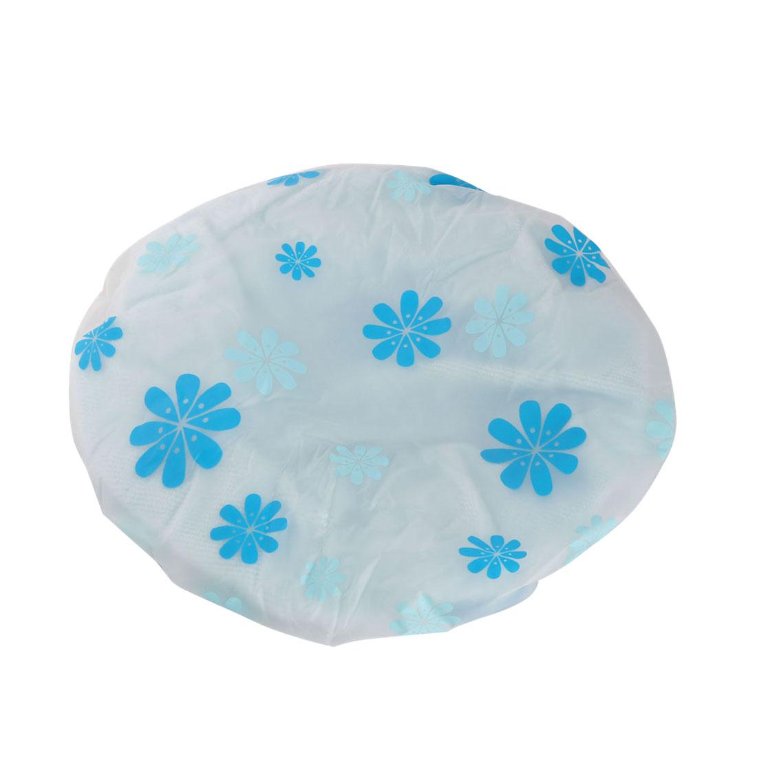 Femmes-microfibre-elastique-resistant-a-eau-bonnet-douche-bain-Spa-Fleurs-bleues