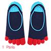 Men Yoga Color Block Low Cut Toe Socks 1 Pack 13-1...