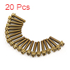 20 Pcs Gold Tone Motorcycle Stainless Steel Hexago...