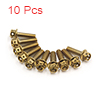 10Pcs Gold Tone Motorcycle Stainless Steel Hexagon...