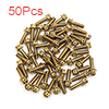 50 Pcs Gold Tone Motorcycle Stainless Steel Hexago...