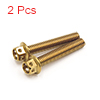 2Pcs Gold Tone Motorcycle Stainless Steel Hexagon ...