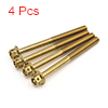 4Pcs Gold Tone Motorcycle Stainless Steel Hexagon ...