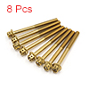 8 Pcs Gold Tone Motorcycle Stainless Steel Hexagon...