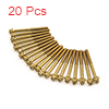 20Pcs Gold Tone Motorcycle Stainless Steel Hexagon...