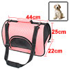 Travel Portable Soft Faux Leather Mesh Zipper Clos...