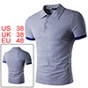 Men Contrast Color Short Sleeves Solid Polo Shirt ...