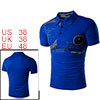 Men Novelty Pattern Classic Short Sleeves Polo Shi...