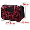 Outdoors Travel Nylon Letter Print Meshy Zipper Cl...