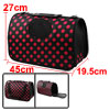 Outdoors Travel Nylon Dots Print Meshy Window Zipp...