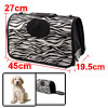 Outdoors Travel Nylon Zebra Print Meshy Window Zip...