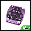 Universal Black Purple Aluminum Alloy Antislip Bra...