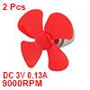 2Pcs DC3V 9000RPM 0.13A Large Torque Motor 4 Vanes...