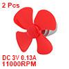 2Pcs DC3V 11000RPM 0.13A High Torque Motor 4 Vanes...
