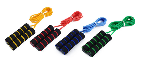 Sports Anti Skid Handle Weight Loose Training Adjustable Skipping Jump Rope