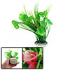 Aquarium Ceramic Base Artificial Flower Decor Unde...
