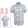 Men Floral Prints Short Sleeves Casual Shirt Off W...