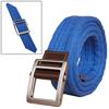 Unisex Leather Paneled Canvas Slide Buckle Belt Wi...