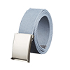 Unisex Canvas No Hole Slide Metal Buckle Waist Bel...