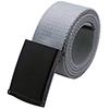 Unisex Canvas No Hole Slide Buckle Waist Belt Widt...