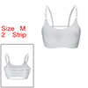 Women 2 Pack Ice Silk Seamless Sexy Strappy Back C...