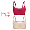 Women 2 Pack Ice Silk Sexy Strappy Back Crop Top B...