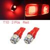 2Pcs 12V T10 Red 5 5050-SMD LED Car Panel Light In...