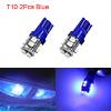 2Pcs 12V T10 Blue 10 1210-SMD LED Car Panel Light ...