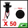50Pcs Black Car Plastic Rivets Splash Guard Push T...