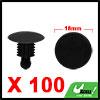 100Pcs 9 x 7mm Hole Black Plastic Rivets Bumper Fe...
