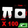 100Pcs 10mm Hole White Plastic Rivets Bumper Fende...