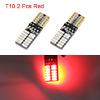 2Pcs 4014 T10 24 LED Car Red Light Lamp Bulbs Inte...